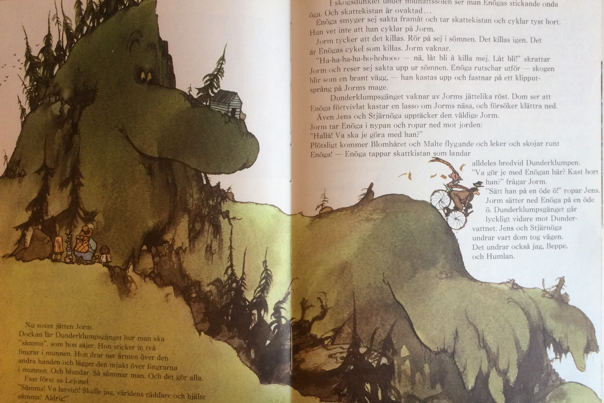 Picture of the giant Jorm from the Swedish childrensbook